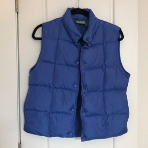 LL Bean down puffer vest